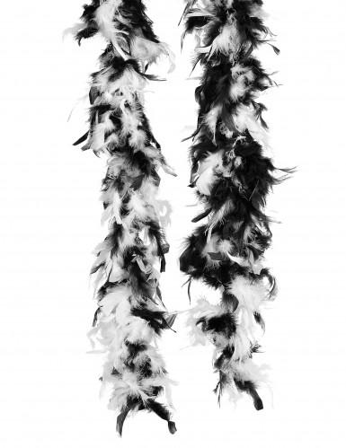 Elegante Boa nero e bianco