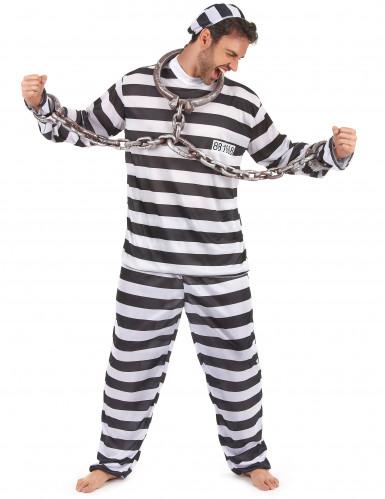 Costume a righe da carcerato per uomo