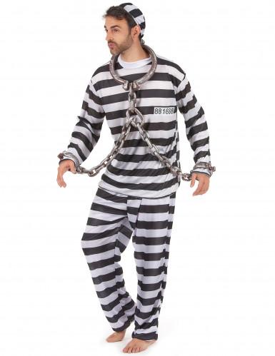 Costume a righe da carcerato per uomo-1