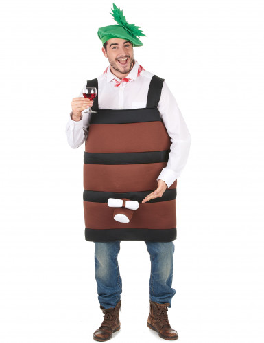Costume a forma botte di vino 2 pezzi