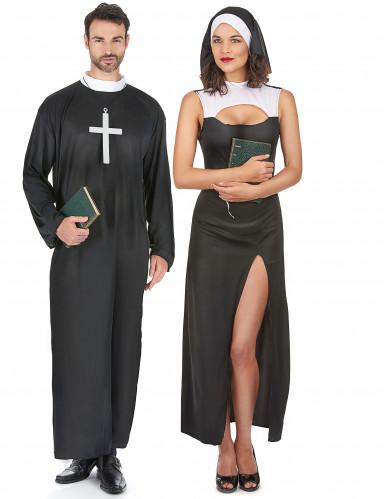 Costume da suora e sacerdote per coppia