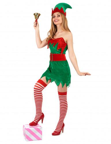 Travestimento elfo natalizio da donna-1