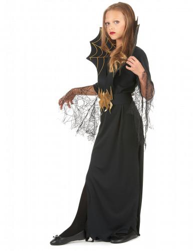 Costume strega ragno bambina Halloween-1