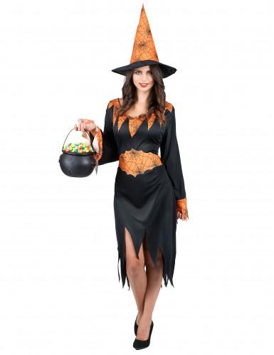 Costume Halloween strega ragno donna