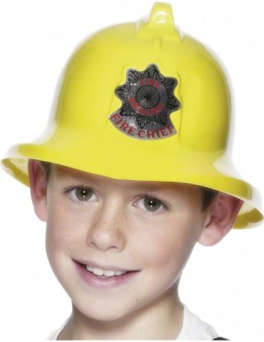 Casco giallo da pompiere bambino