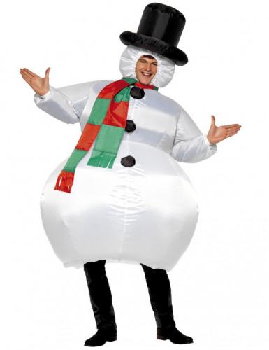 Costume da pupazzo di neve gonfiabile per adulti