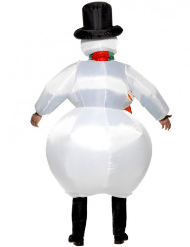 Costume da pupazzo di neve gonfiabile per adulti-1