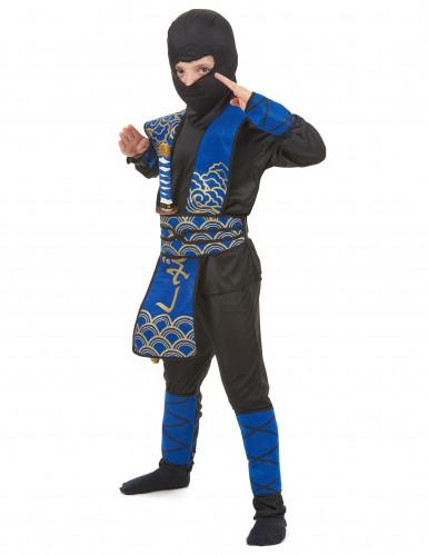 Costume ninja blu bambino-1