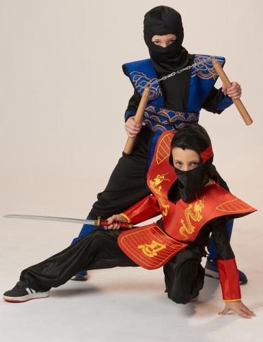 Costume ninja blu bambino-3