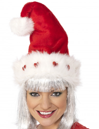 Cappello Natale cuori luminosi adulto