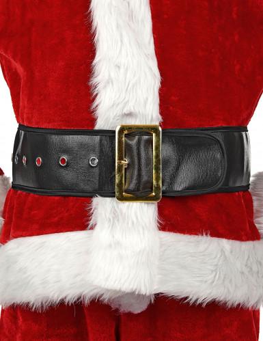 Cintura da Babbo Natale nera da adulto-3