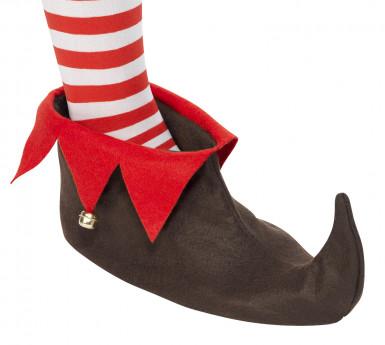 Scarpe da elfo natalizio per adulto