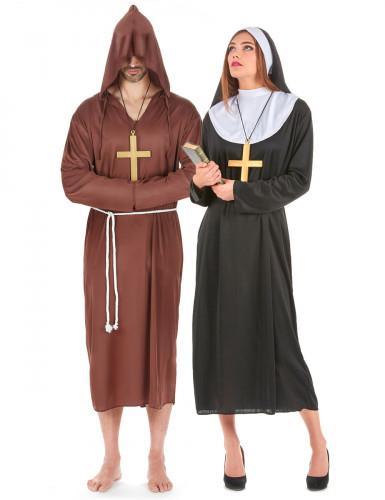 Completo coppia monaco e suora