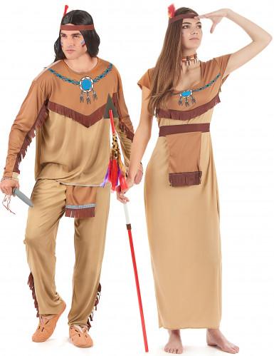 Costume per coppia da indiani per adulto