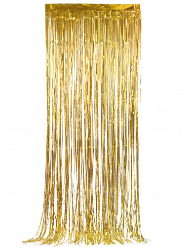 Tenda scintillante color oro