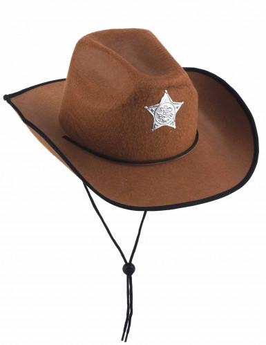 Cappello da sceriffo marrone per bambino