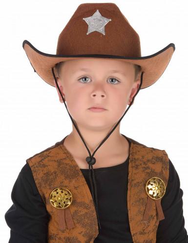 Cappello da sceriffo marrone per bambino-1