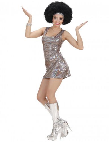 Costume discoteca color argento per donna