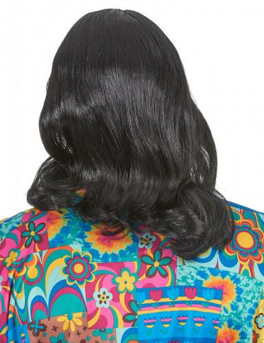 Parrucca nera hippy adulto-1
