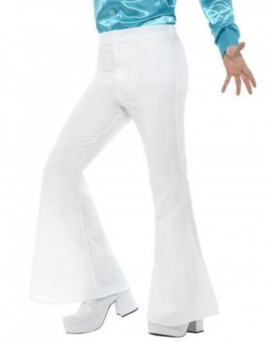 Pantaloni da disco bianchi uomo