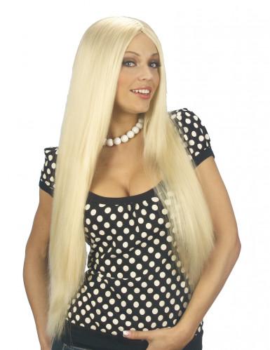 Parrucca lunga e bionda da donna