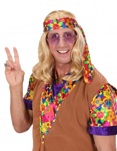 Parrucca bionda hippy per adulto