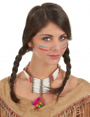 Collana in plastica da indiana-1