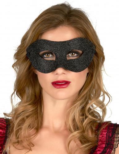 Maschera nera da adulti per le feste in maschera