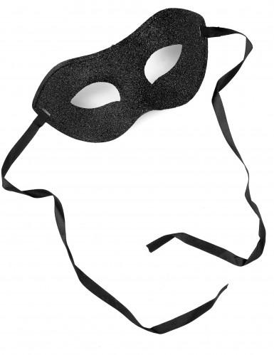 Maschera nera da adulti per le feste in maschera-1