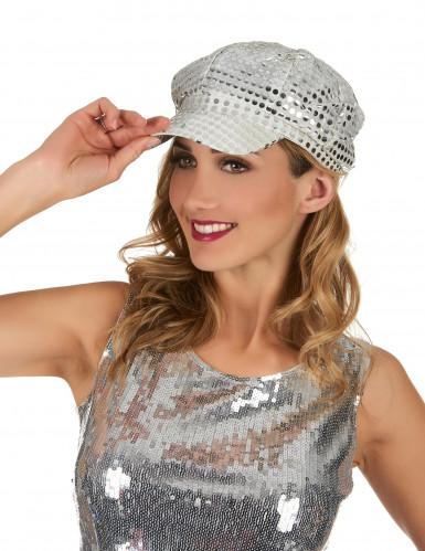 Cappellino argentato da discoteca