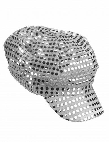 Cappellino argentato da discoteca-1