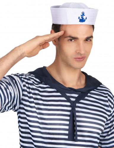 Cappello marinaio ancora blu adulto-1