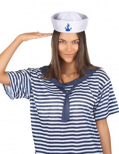 Cappello marinaio ancora blu adulto-2