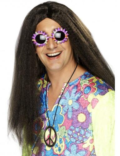 Parrucca da adulto stile hippie
