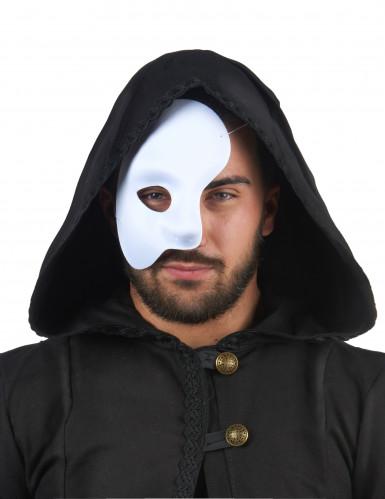 Maschera bianca coprente metà viso