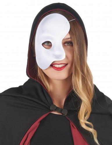 Maschera bianca coprente metà viso-1