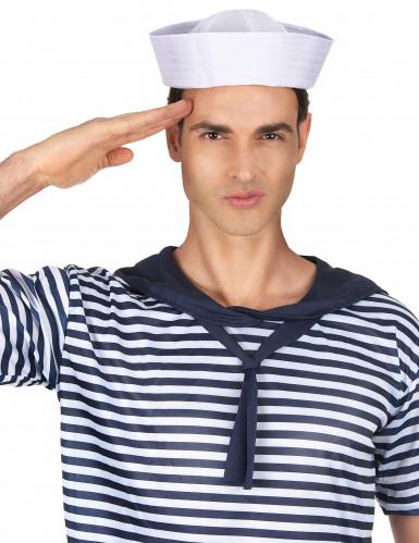 Cappello bianco da marinaio-1
