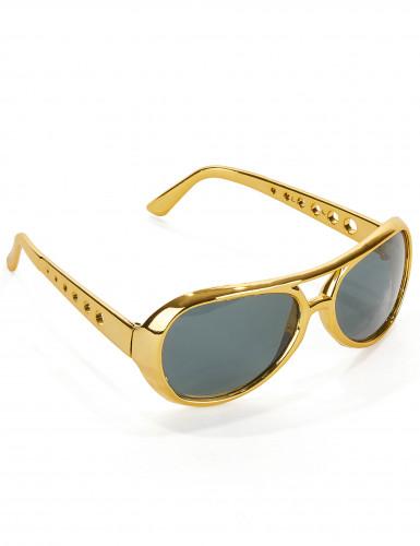 Occhiali dorati di Elvis