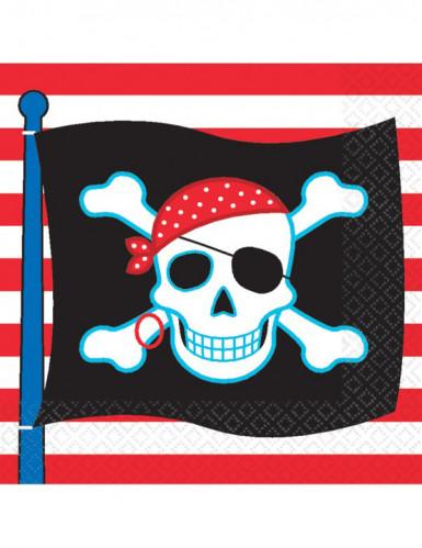 16 tovaglioli di carta con pirata