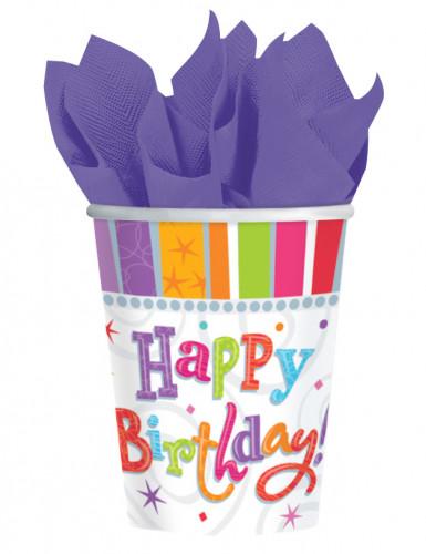 Bicchieri con scritta Happy Birthday