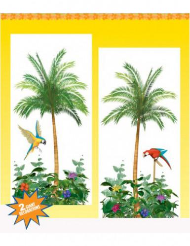 2 decorazioni murali con palme