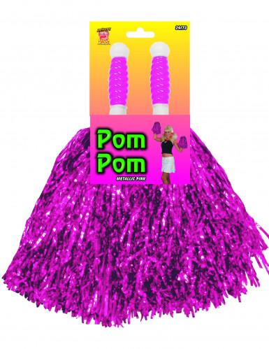 Ponpon color viola effetto metallico
