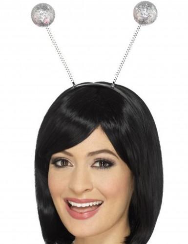 Cerchietto con antenne e sfere argento