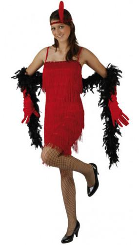 Costume rosso da charleston da donna