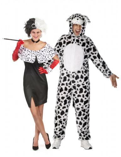 Costume per coppia Crudelia e il suo dalmata
