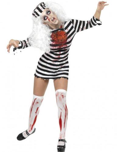 Costume da zombie prigioniera per donna