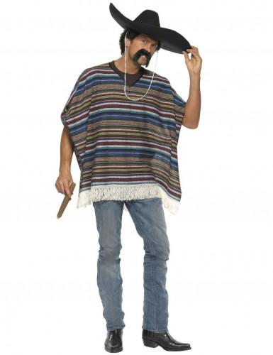 Poncho messicano da uomo