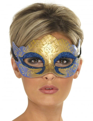 Maschera veneziana adulto con glitter