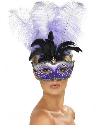 Maschera veneziana di colore viola per adulto