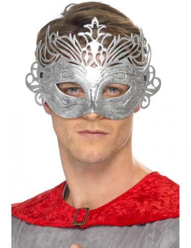 Maschera veneziana color metallo per adulto
